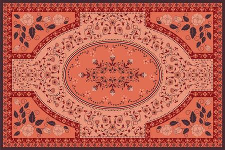 curvilinear: Floral carpet Illustration