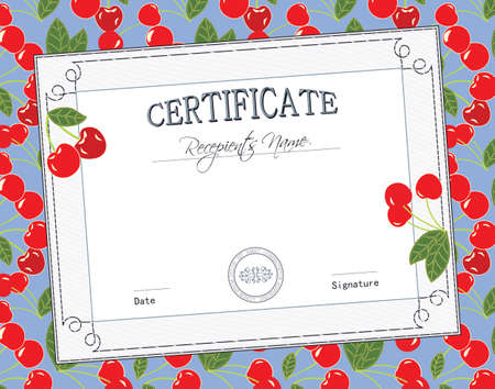 KID CERTIFICATE Vector