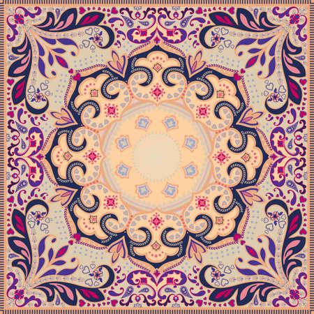 silk scarf: Elaborate scarf design
