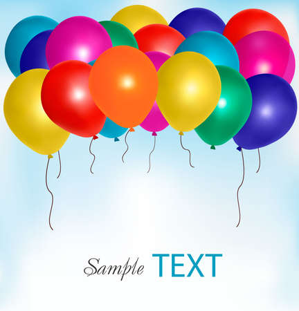 Balloons frame composition with space for your text. Vector illustration. Stock Vector - 9905198