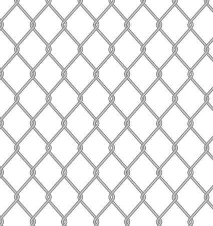 metal net: Valla de alambre. Vectores