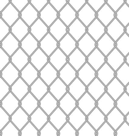 malla metalica: Valla de alambre. Vectores