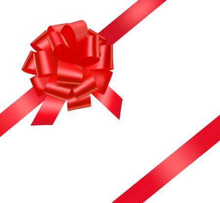 moños navideños: Arco hermoso regalo rojo.