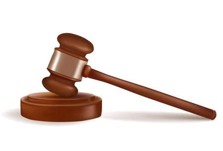 Judge gavel. Photo-realistic  Vector