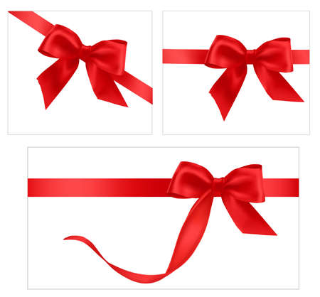 bows and ribbons: illustration. Collection of holiday bows with ribbons.