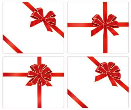 Große Sammlung von roten Geschenk Bögen. Vector.