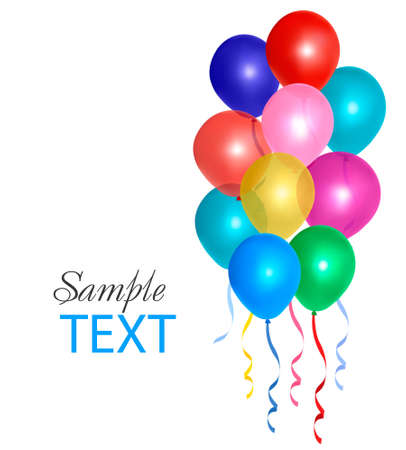 Balloons  composition with space for your text. Vector illustration Stock Vector - 10017310