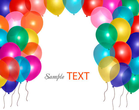 ballon: Balloons frame composition with space for your text. Vector illustration