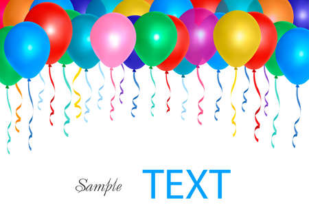 Balloons frame composition with space for your text. Vector illustration Stock Vector - 10017317
