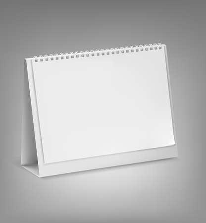 almanak: Leeg bureaublad kalender. Vector illustratie.