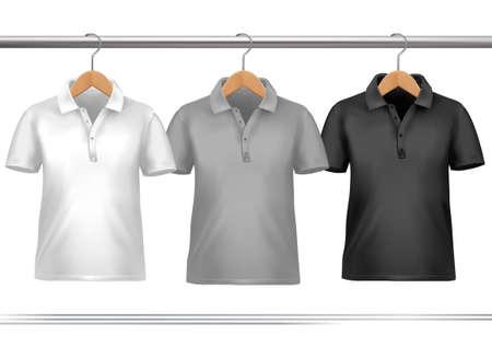 appendini: Appendiabiti con camicie. Vettore Vettoriali