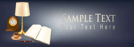 Banner with office supplies. Vector. Stock Vector - 10017357
