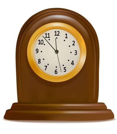 reloj antiguo: Antiguo reloj aislado en un fondo blanco. Vector.