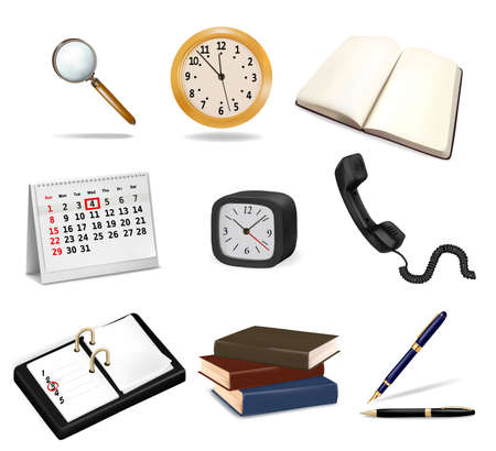 Set with office supplies. Vector Stock Vector - 10300658