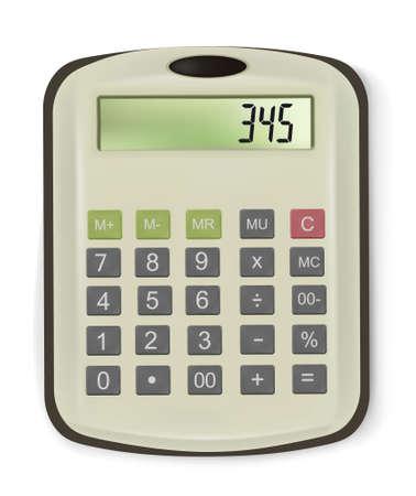 Vector illustration of business calculator. Vector