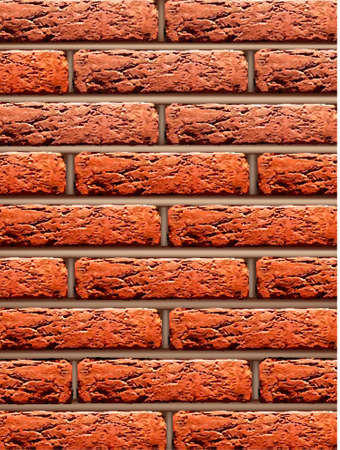 crisp: Red brick wall background. Vector illustration.