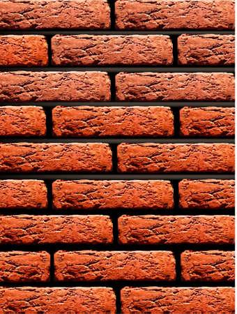 stucco facade: Sfondo rosso muro di mattoni. Illustrazione vettoriale.