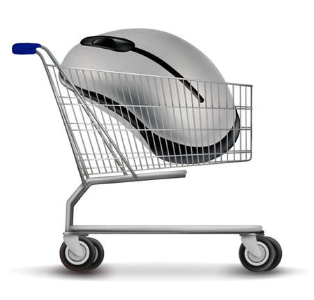 Shopping cart with mouse. Vector Stock Vector - 10881152