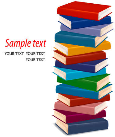 pile papier: Pile de livres color�s