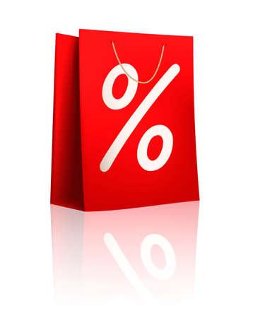 cut price: Sale shopping bag. Vector illustration. Illustration