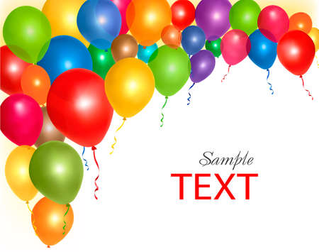 red balloons:  Balloons frame composition with space for your text. Vector illustration.