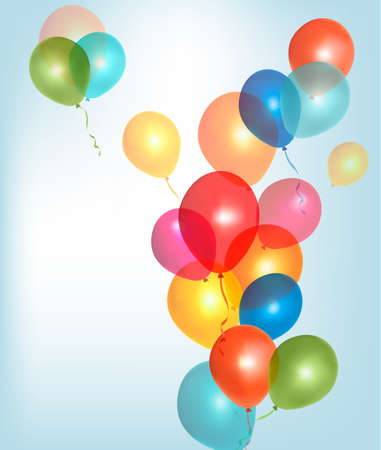 Background with colorful balloons. Vector. Vector