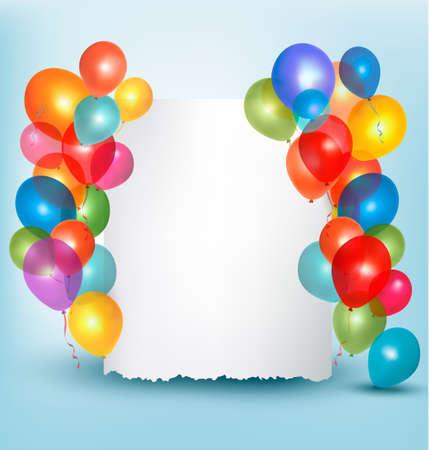 Alquiler de globos composición de imagen con el espacio para el texto. Vector ilustración. Ilustración de vector