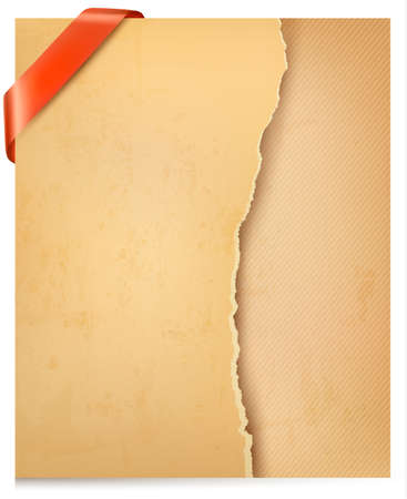 Vintage background with ripped old paper illustration. Stock Vector - 18682248