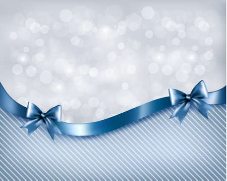 anniversary backgrounds: Holiday background with gift glossy bow and ribbon.