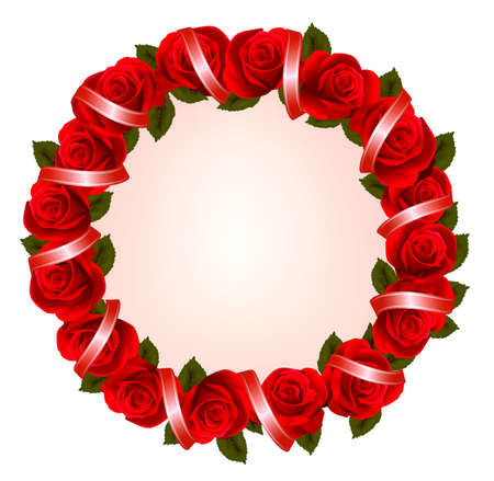 holiday background with colorful flowers and red ribbons royalty