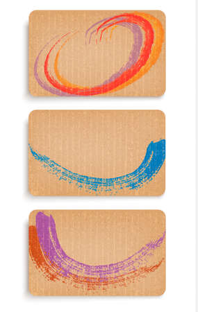 Collection of abstract retro cardboard banners. Vector Vector