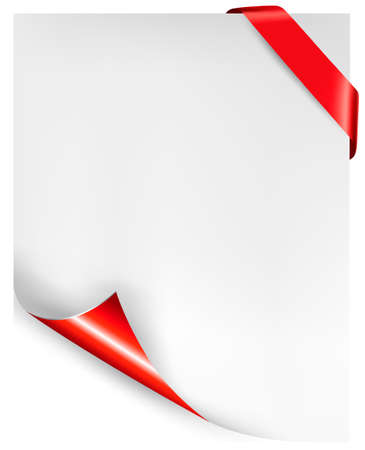 anniversary sale: Holiday background with red ribbon. Vector