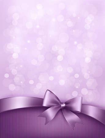 marco cumplea�os: Vacaciones de fondo elegante con arco de regalo y la cinta.