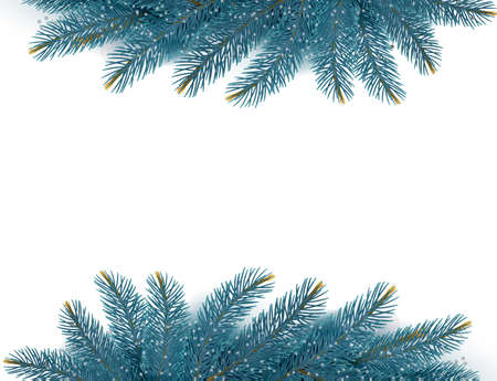 Christmas background with fir branches. Vector illustration Stock Vector - 24527502