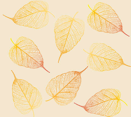 flora  vector: Fresh colorful leaves background. Vector