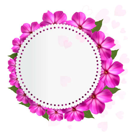 holiday background: Flower holiday background. Vector,
