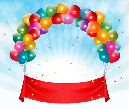 Feliz fondo bandera cumpleaños. Vector. Foto de archivo - 40608464