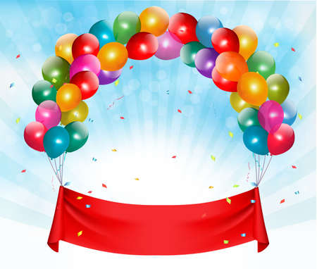 joyeux anniversaire: Joyeux anniversaire bannière fond. Vector.