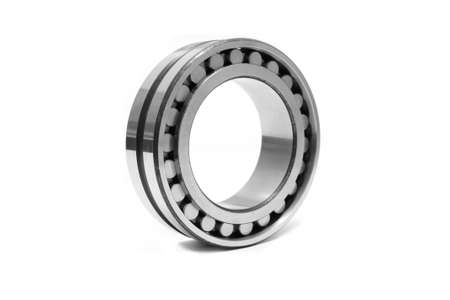 thrust: This image shows a radial  thrust bearing  on a white background Stock Photo