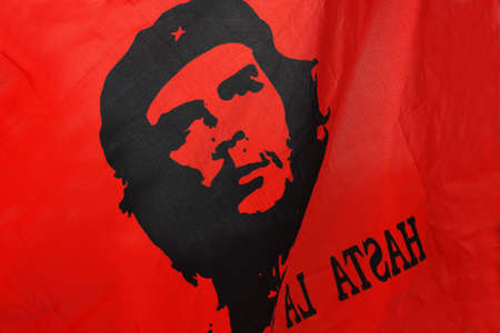 Flag which depicted comandante Che Guevara