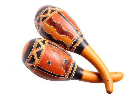maracas: Maracas cuban folk instrument on white background Stock Photo