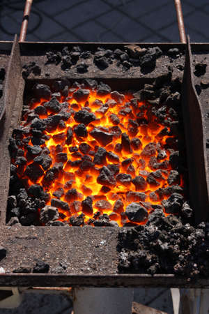 Amenities smith, brazier with hot coals Stock Photo - 7885031