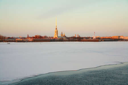 St. Petersburg, Russia,  Neva River, Peter and Paul Fortress