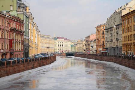 and st petersburg: St. Petersburg, Moyka Embankment,  Russia Stock Photo