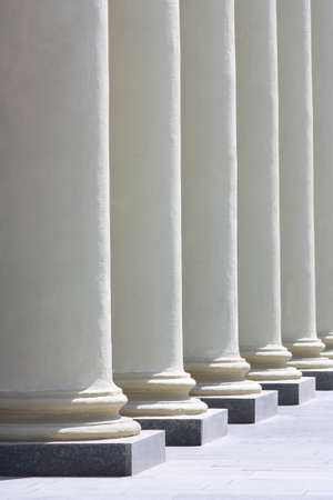 colonnade: Colonnade. Several columns of sunlit perspective