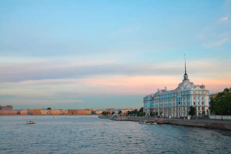 and st petersburg: St. Petersburg. Neva embankment, view the Nakhimov Naval School