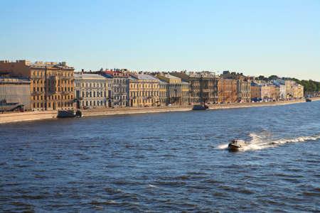 st  petersburg: St. Petersburg. Neva embankment sunny day