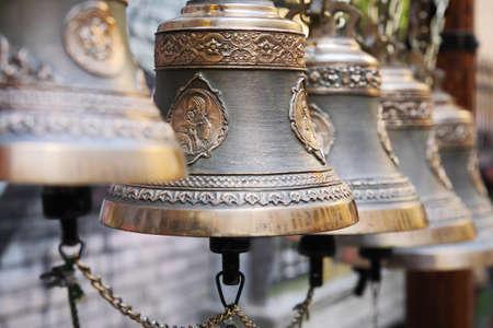 grecian: Orthodox bells closeup Stock Photo