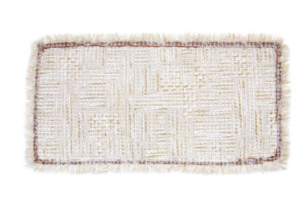 frill: Textile rug brown on a white background Stock Photo