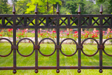 metal fence: Metal fence in the park